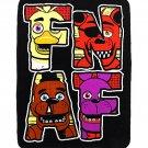 Five Nights at Freddy's Plush Throw Blanket (Freddy Fazbear, Foxy, Chica, & Bonnie) by Bioworld