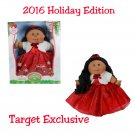"Cabbage Patch Kids 2016 Holiday Edition 14"" African American Red Dress w/Fur Jacket Target Exclusive"
