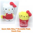 """Retired Hello Kitty Reversible 7"""" Plush Figure Doll: French Fries by Sanrio"""