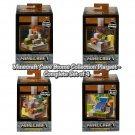 Minecraft Cave Biome Collection with Mini-figures Playset - Complete Set of 4 by Mattel