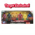 "Bandai Power Rangers Movie 5"" Morphin Metallic Rangers Team & Goldar 6-Pack Set - Target Exclusive"