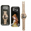 Disney Beauty & The Beast Belle Rose Gold Tone Metal Analog Wrist Watch