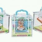 Lot of 3 - Calico Critters Friends in Mini Carry Cases - BUNNY | SQUIRREL | CAT
