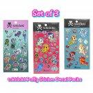 Set of 3 Loungefly tokidoki Mermicorno Unicorno Puffy Sticker Decal Packs by Simone Legno