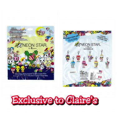 Neon Star by tokidoki Blind Bag Detachable Charm Collection �15 Sealed Packs Claire's Exclusive