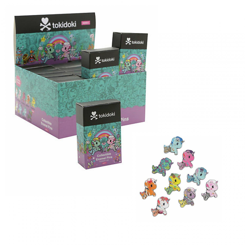 Loungefly tokidoki Mermicorno Unicorno Blind Box Enamel Pins Case of �18 Sealed Packs