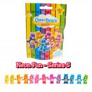 Lot of 12 - Care Bears Neon Fun Series 5 Collectible Mini Figures Mystery Blind Bags by Just Play