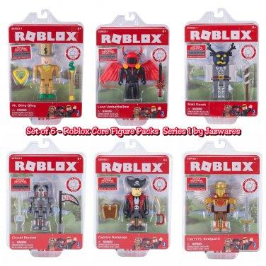 Set of 6 Roblox Core Figure Packs Series 1 10706 10707 10708 10709 10710 10711 by Jazwares