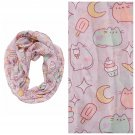 "Pusheen Ice Cream In Space 20""×72"" Pastel Viscose Scarf by IML"