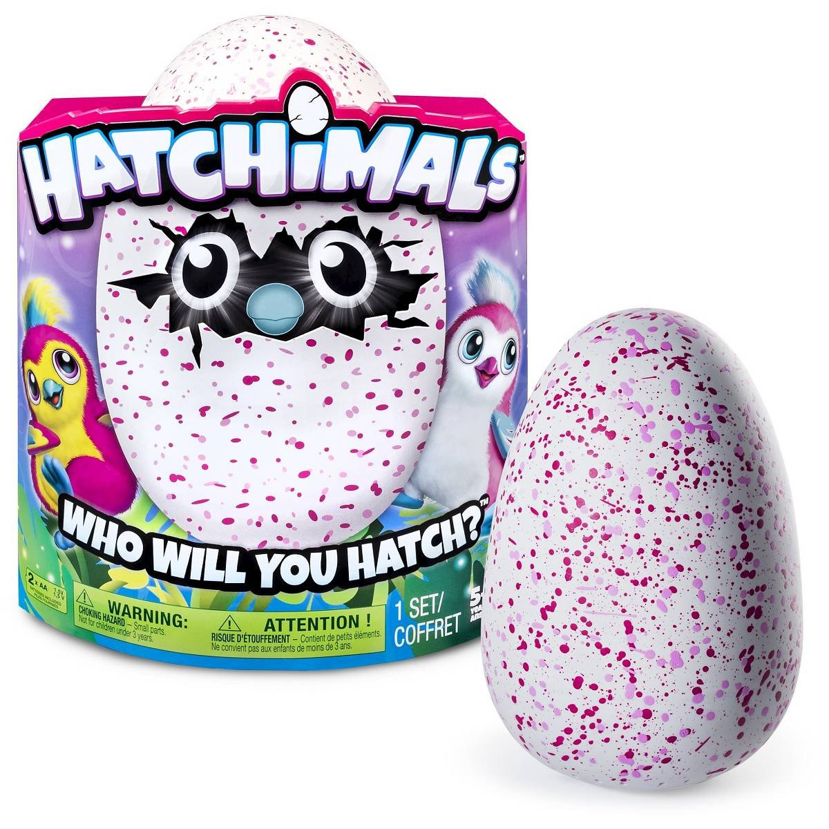Hatchimals Hatching Egg Bearakeet by Spin Master - Pink/Red