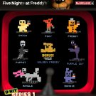 Mcfarlane Five Nights at Freddy 8-Bit Figures Freddy Bonnie Chica Foxy Mangle Purple Guy Puppet