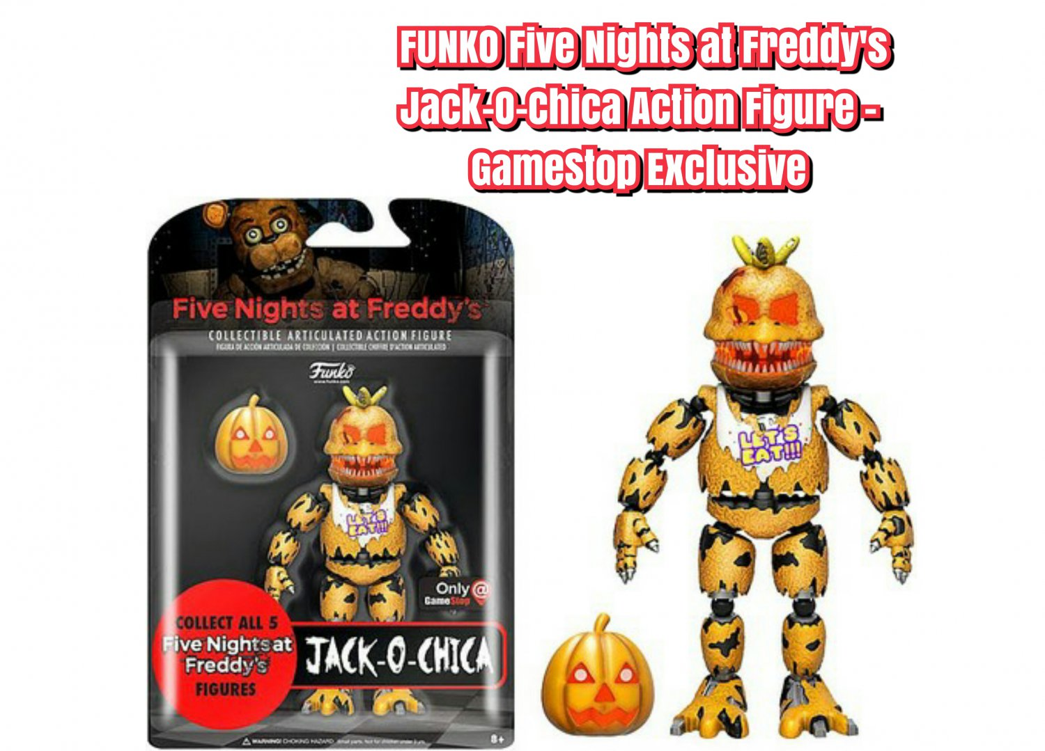 """FUNKO Five Nights at Freddy's 5"""" Jack-O-Chica Series 2 Action Figure - GameStop Exclusive"""
