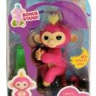 WowWee Fingerlings Interactive Baby Monkey Bella (Pink w/Yellow Hair) Walmart Exclusive Bonus Stand