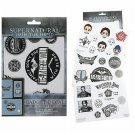 Supernatural Gadget Decals Stickers by Bioworld Hot Topic Exclusive (4 Sheets totaling 30)