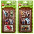 LEGO Minecraft 4 Minifigures Skin Pack 1 & 2 Building Toy - #853609 | #853610