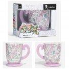 tokidoki Pastel Unicorno Print Design Ceramic Pedestal 16oz. Mug Cup by Just Funky