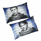 Supernatural Sam & Dean Winchester Brothers Mugshots 2-Pcs Pillowcase Set by Just Funky