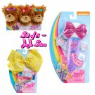 Set of 5 JoJo Siwa Bow Bow Plush Puppy (Pink, Blue, & Purple), Microphone, & Bodacious Bow - Yellow