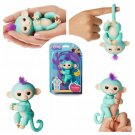 WowWee Fingerlings Interactive Baby Monkey Zoe (Turquoise with Soft Purple Hair) #3706