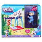 WowWee Fingerlings Monkey Bar Playset w/ Exclusive Baby Monkey Liv (Blue w/Pink Hair) - #3731