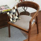 American Village Retro Old Solid Wood Chair Household Casual Cafe with Backrest Armrest Chair