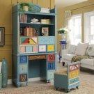 Mediterranean colorfull bookcase cabinet