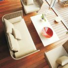 Art rattan sofa with table set