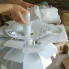 Artichoke Pendant Lamp of 38cm in diameter Aluminium Leaves Suspension light