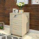 Wooden Office Cabinet Floor File Cabinet Three Drawer Storage