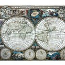 World map tapestry