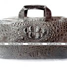Luxury Genuine Crocodile Leather Unisex Big Travel Bag with Shoulder Strap