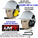 Construction Hard Hat Headset Motorola CP200, CP200D P1225 BPR40 PR400 CT SERIES