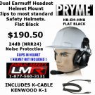 Construction Hard Hat Headset Kenwood TK3230 TK3312 TK2312 NX320 NX220 TK3402