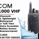 ICOM IC-F1000,VHF 136-174 MHZ, 4 WATT, 16 CHANNEL NON-DISPLAY HANDHELD RADIO