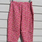 Briggs Pink Floral Capris 32 Waist Flowers Cropped Pants CLEARANCE