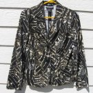 Requirements Print Blazer Jacket S Small EUC Black Brown Ivory