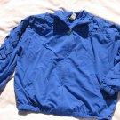 Teddi Royal Blue Jacket M Medium Lattice Zippered  Light Weight