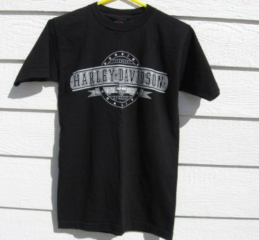 Harley Davidson Black T-shirt S Small 34 Inches Milwaukee, WI Motorcycle
