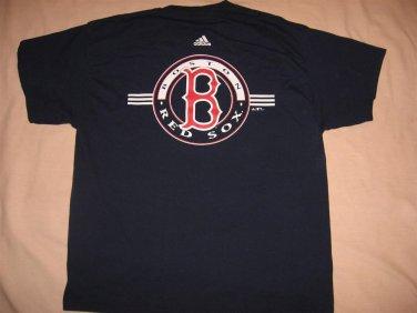 Tshirt Adias Boston Red Sox XL 43 Chest Navy Blue Baseball