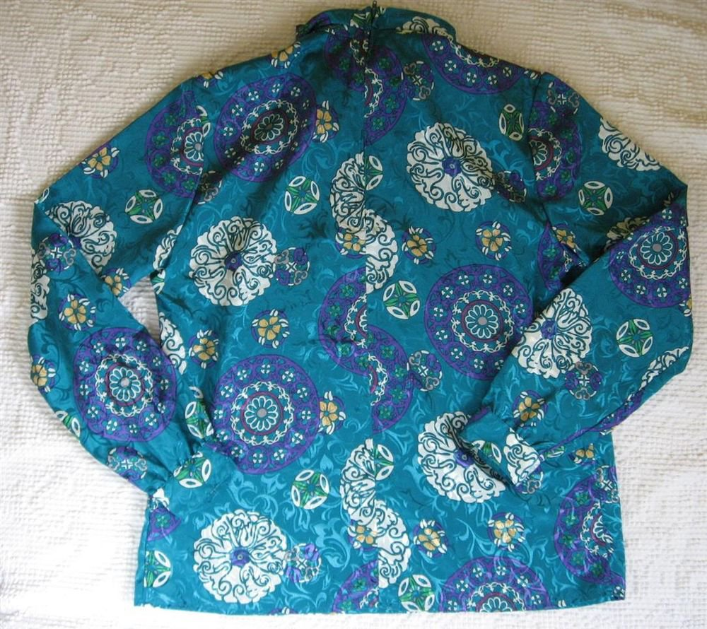 Lyke Limited Silky Top M 40 Chest Shiney Teal Pull Over Blouse CLEARANCE