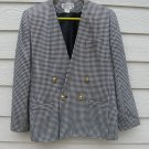 Atrium Jacket 12 Blue White Blazer Houndstooth Coat