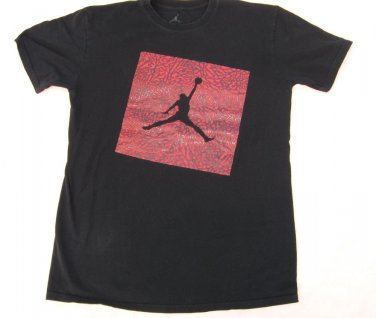 T shirt Air Jordan L Large Black Red Graphic 42 Chest Basketball Sports Top