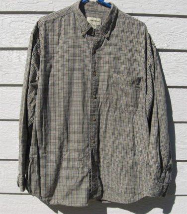 Eddie Bauer Shirt XL Plaid Long Sleeve Men CLEARANCE