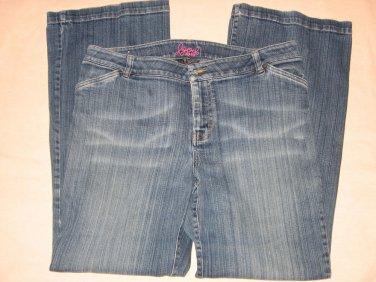 Izod Blue Jeans 14 Distressed Color 37 Waist