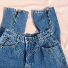 Lee Blue Jeans 9 Medium Straight Leg 26 Waist Zippers