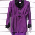 Styleworks Purple Dress Blazer 12 Coat Faux Sheath Dress Long Blazer Vintage