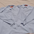2 Shirts Pinstripe 3XL LN Long Sleeve Shirts EUC Cornerstone Button Down