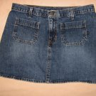Abercrombie Fitch Jean Skirt 10 32 Waist EUC Mini Blue Denim