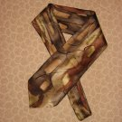 J Garcia Silk Neck Tie Brown Tan Pattern 2003 Jerry Collection Thirty Five