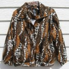 Animal Print Jacket M Medium 47 Chest Active Studio Windbreaker